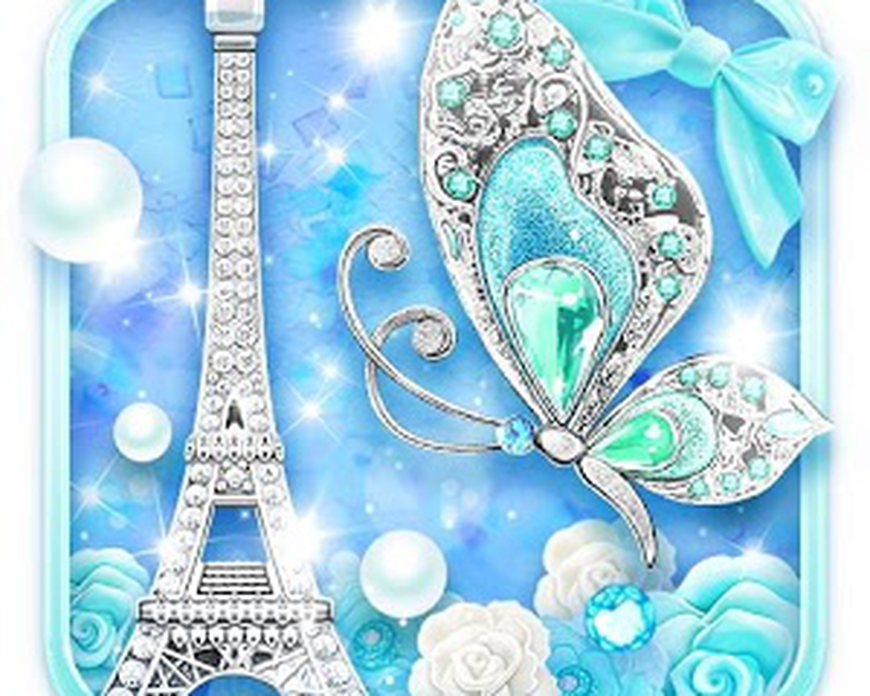 Turquoise Diamond Butterfly Live Wallpaper Android Free