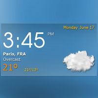 Ícone do Digital clock weather theme 1