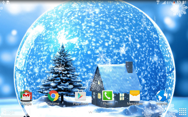Winter Night Live Wallpaper Image