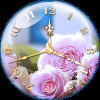 Biểu tượng Đồng hồ hình nền sống Hoa hồng
