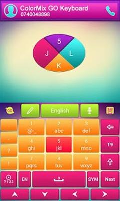 ดาวน์โหลด Color Mix GO Keyboard Theme 3 87 APK แอนดรอยด์ฟรี