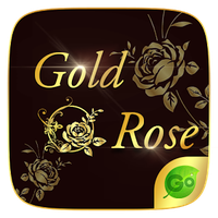 Gold Rose GO Keyboard Theme icon