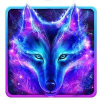 Icono de Lobo del cielo nocturno Fondo de pantalla en vivo
