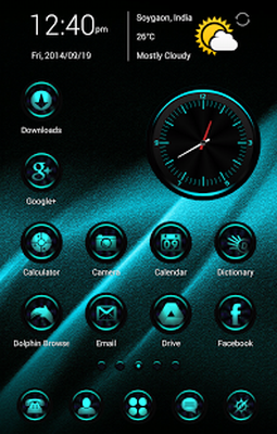 Download CyanLights Go Apex Nova Theme 1 5 7 free APK Android