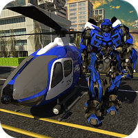 Polis Helikopteri Robot Savaşı Simgesi