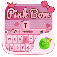 Pink Bow GO Keyboard Theme APK Simgesi