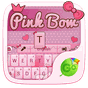 Pink Bow GO Keyboard Theme 4.16