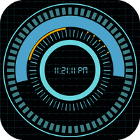 Animated Digital Clock Free icon