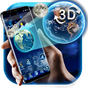 3D Earth and moon launcher theme 1.1.5