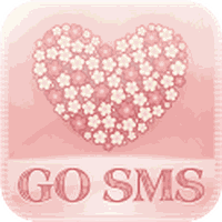 Apk FlowerLove Theme GO SMS