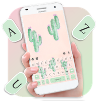 Cute Cartoon Cactus Keyboard Theme icon