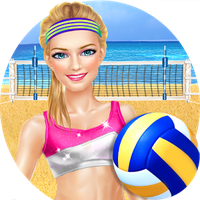 Sporty Girls: Beach Volleyball APK Simgesi