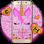 Pink Glisten Unicorn Cat Keyboard Theme 1.0