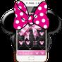 Pink Black Minny Bowknot Theme 1.1.1