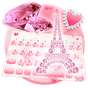 Pink Diamond Paris Keyboard Theme 15.0