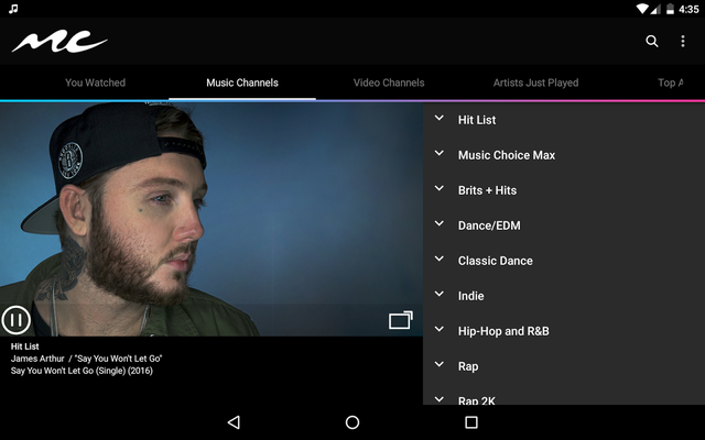 Music Choice Android - Free Download Music Choice App
