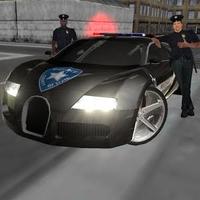 Çılgın Sürücü Polis Vazife 3D Simgesi