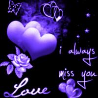 Purple Heart And Flower Live W Simgesi