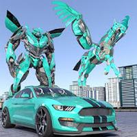 Ícone do A polícia nos transformar carro robô Unicórnio vôo