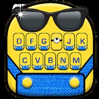 Cartoon Yellow Me Keyboard Theme icon