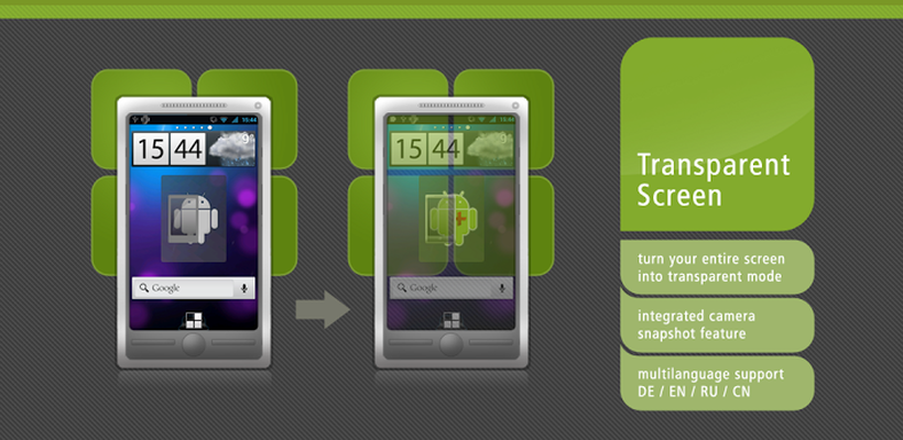 Transparent Screen PRO Android - Free Download Transparent