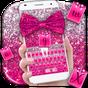 Pink Glitter Bow Keyboard Theme 10001002