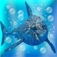 怒ったサメの亀裂画面 アイコン