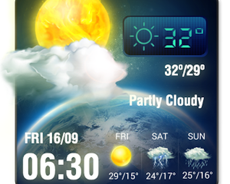 3D Live Weather Alert Widget Android - Free Download 3D
