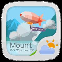 Biểu tượng apk Mount GO Weather Widget Theme