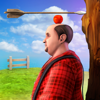 Icono de Tirador de manzana con Amigos