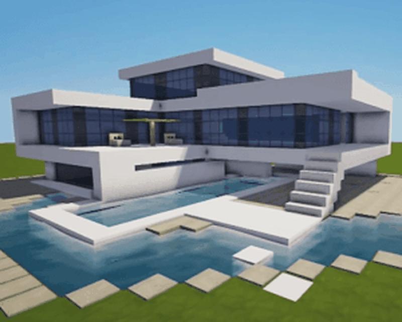Case Moderne Minecraft : Descarcă casa clădire minecraft apk gratuit pentru android