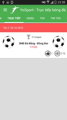 Tải miễn phí APK Bong da truc tiep tv - Yosport 1 1 8 Android