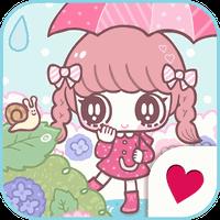 Cute wallpaper★Rainy girl apk icon