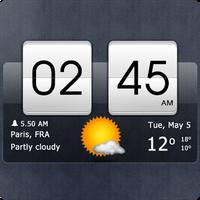 Ikon Sense flip clock & weather