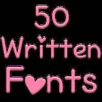 Fonts for FlipFont 50 Written Simgesi