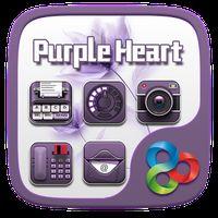 Purple Heart GO Launcher Theme apk icon