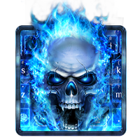 Api biru Tengkorak Keyboard Android - Free download Api biru