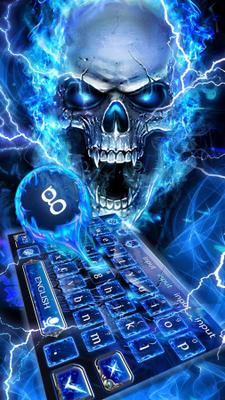 Tastiera Blu Del Teschio Del Fuoco 10001005 Download Gratis Android