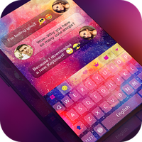 Ícone do Keyboard -Boto:Colorful Galaxy