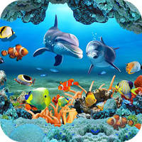 Fish Live Wallpaper 3D Aquarium Background HD 2018 Simgesi