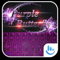 Ícone do apk Tema gratuito Purple Butterfly
