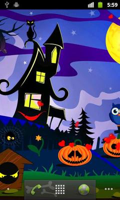 Halloween Live Wallpapers Free Screenshot Apk 0