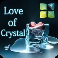 Love of Crystal Next 3D Theme apk icon
