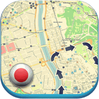 Japan Offline Map Hotels Cars icon