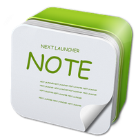 Apk Next Launcher 3D Note Widget