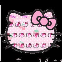 Pink Cute Kitty Bowknot Cartoon keyboard Theme icon