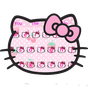 Pink Cute Kitty Bowknot Cartoon keyboard Theme 10001005
