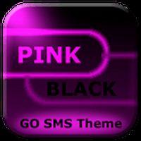 Ícone do apk GO SMS Rosa Tema Neon Black