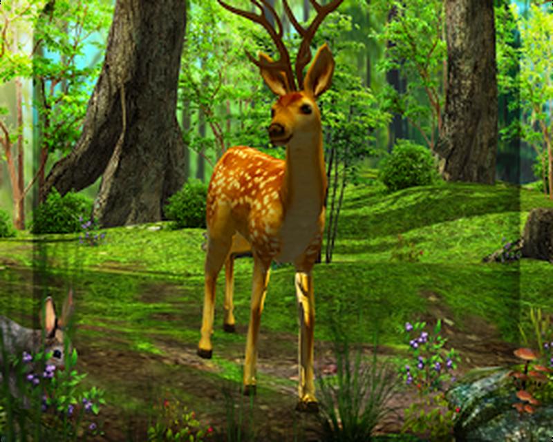 3D Deer-Nature Live Wallpaper Android
