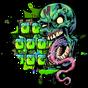 Zombie Skull Graffiti Keyboard Theme 10001004